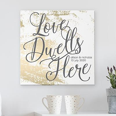 Love Dwells Here Canvas
