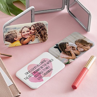 Photo with Message Purse Mirror