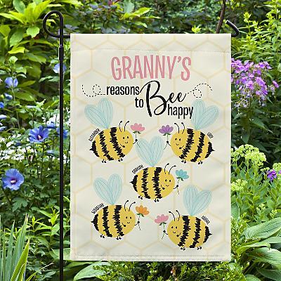 Reasons to Bee Happy Garden Flag