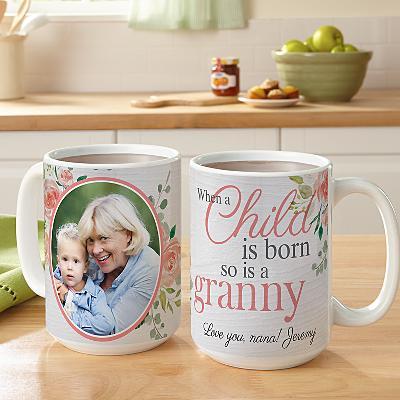 When a Child is Born Photo Mug
