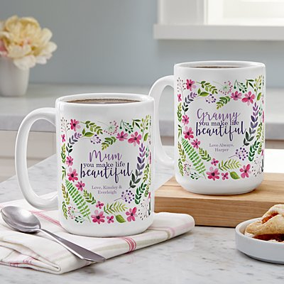 You Make Life Beautiful Mug