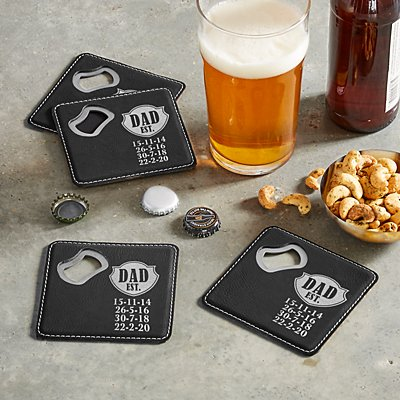 Established Bottle Opening Coasters