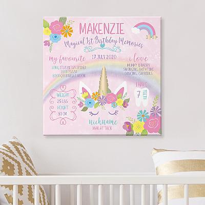 Magical Memories Birthday Canvas