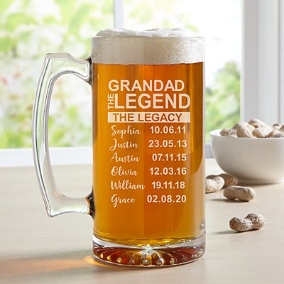 Family Legend Oversize Pint Glass