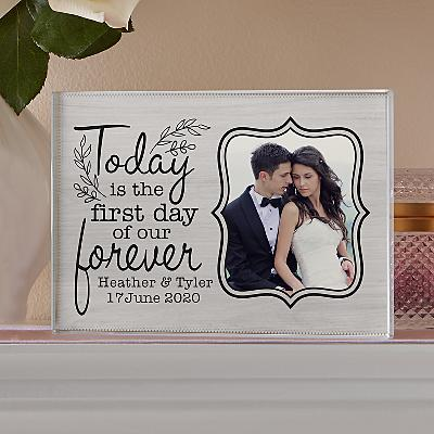 First Day Of Forever Photo Glass Block