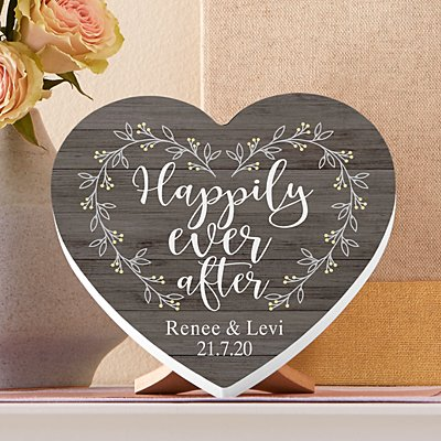 Happily Ever After Mini Wooden Heart