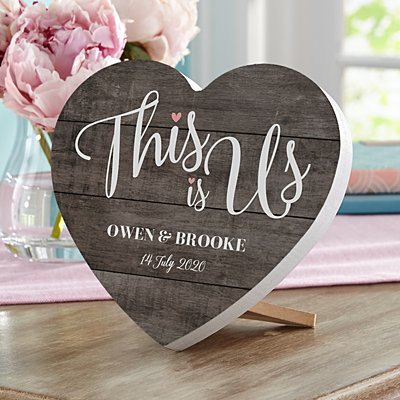This is Us Wedding Mini Wooden Heart
