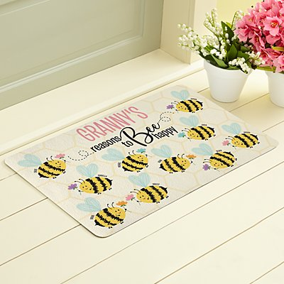 Reasons to Bee Happy Doormat