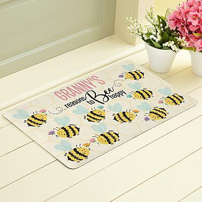 Reasons to Bee Happy Doormat