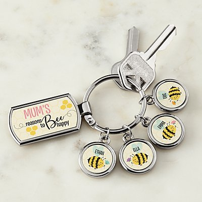 Reasons to Bee Happy Keyring