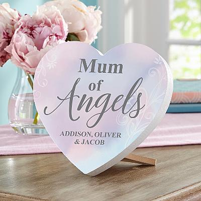 My Angel Mini Wood Heart