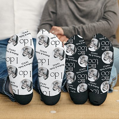I Do, Me Too Photo Socks