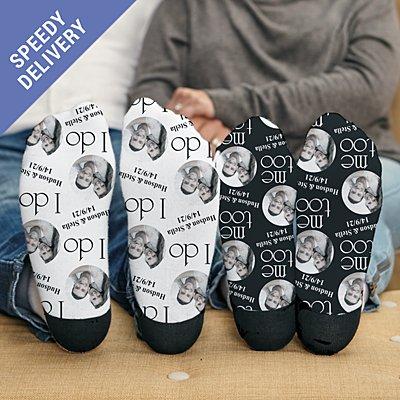 I Do, Me Too Photo Socks