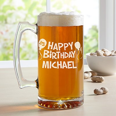 Birthday Oversized Pint Glass