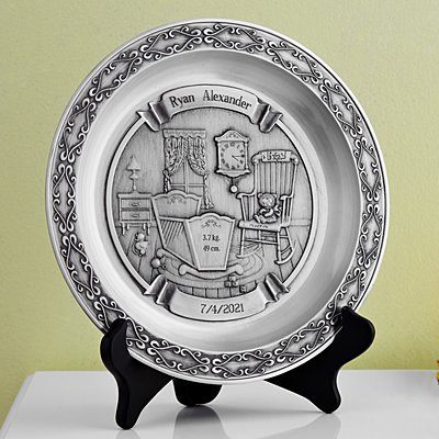 Pewter Baby Plate