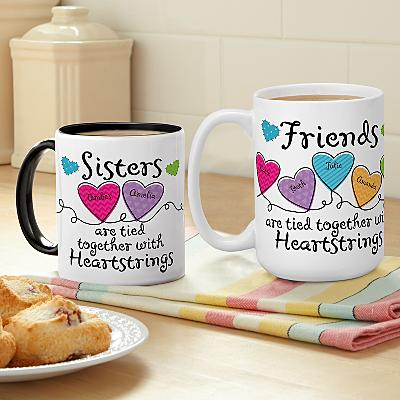 Sisters and Friends Heartstrings Mug