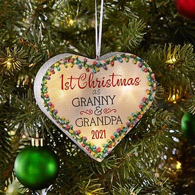 TwinkleBright® LED 1st Christmas Heart Bauble