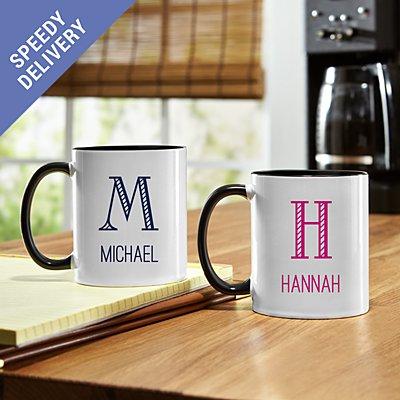 Whimsical Name & Monogram Mug