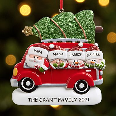 Santa Caravan Family Ornament