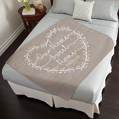 Our Home Sweet Home Plush Blanket