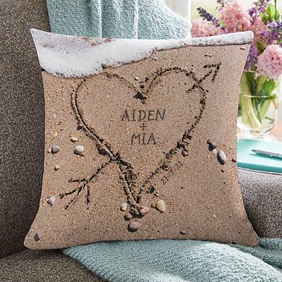 Heart in Sand Wedding Cushion
