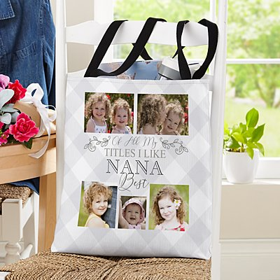 The Best Grandparents Photo Tote