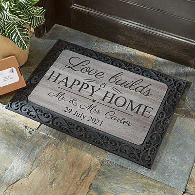 Love Builds a Happy Home Doormat