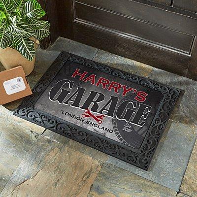 His Garage Doormat