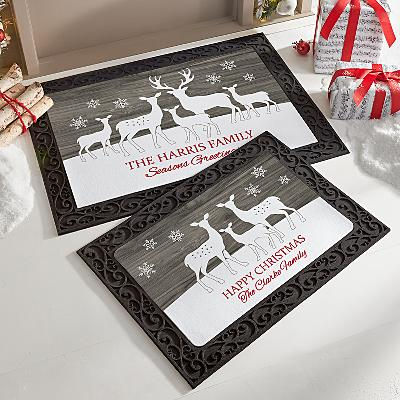 Reindeer Family Doormat