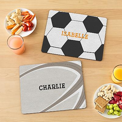 Sports Fan Personalised Placemat