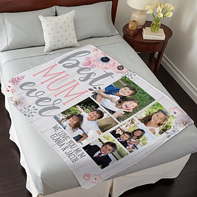 Best Mum Ever Photo Plush Blanket