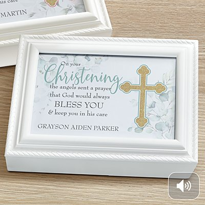 On Your Christening Music Box