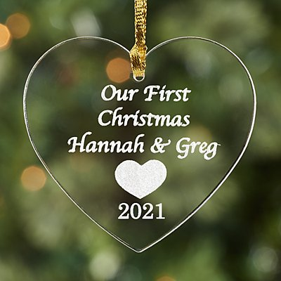 First Christmas Milestone Acrylic Heart Ornament