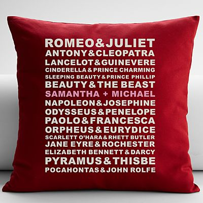 Famous Couples Throw Pillow
