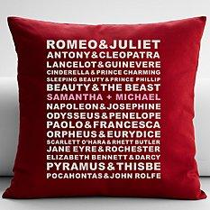 Famous Couples Throw Pillow