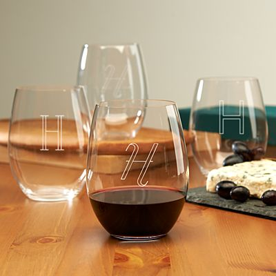 Stemless Wine Glasses (set of four)