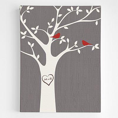 Tree Initials Wall Art