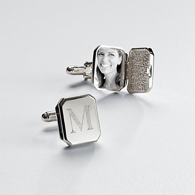Locket Silver Cuff Links