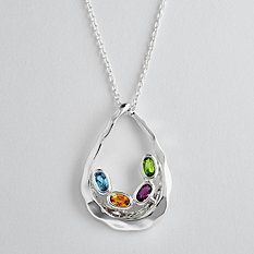 Family Embrace Birthstone Necklace