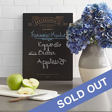 Kitchen Typography Chalkboard Wall Art Personal Creations