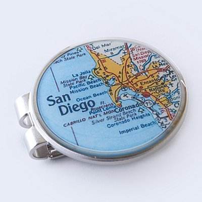 Custom Map Coordinates Money Clip - Custom Map + Message