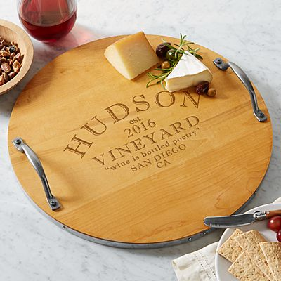 Modern Vineyard Wood Barrel Tray
