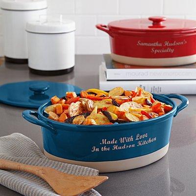 Oval Ceramic Stoneware Casserole Dish