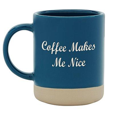 Personally Yours Stoneware Mug - Navy -Any Message
