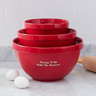 Stoneware Mixing Bowl Set