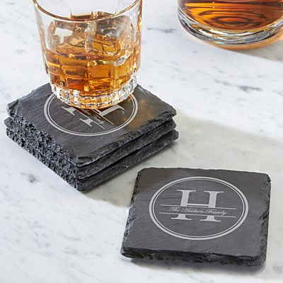 Family Name Slate Coasters