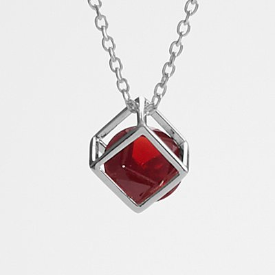 Anniversary Stone Necklace - Garnet