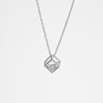 10th Anniversary Stone Necklace - White Sapphire