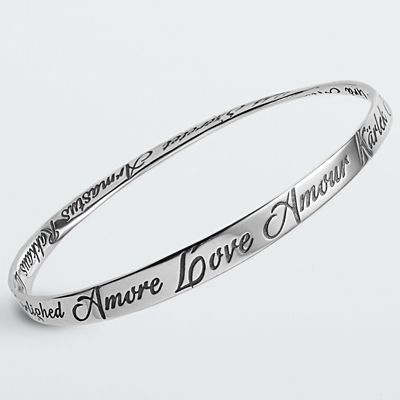 Languages of Love Bangle