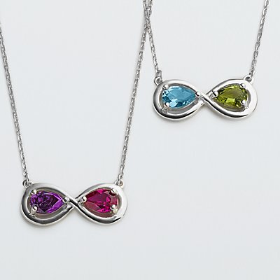 Infinite Love Birthstone Necklace
